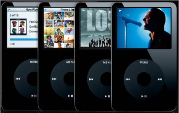 Four Black Ipods