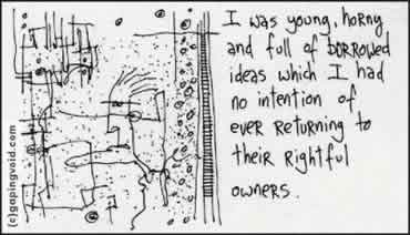 Borrowed Ideas Gapingvoid
