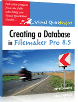 Creating a database in fmp 85 Cvr