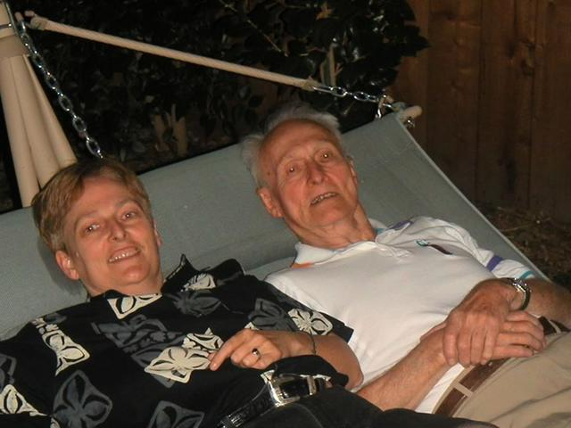 Me and Dad on the Hammock at Kay's