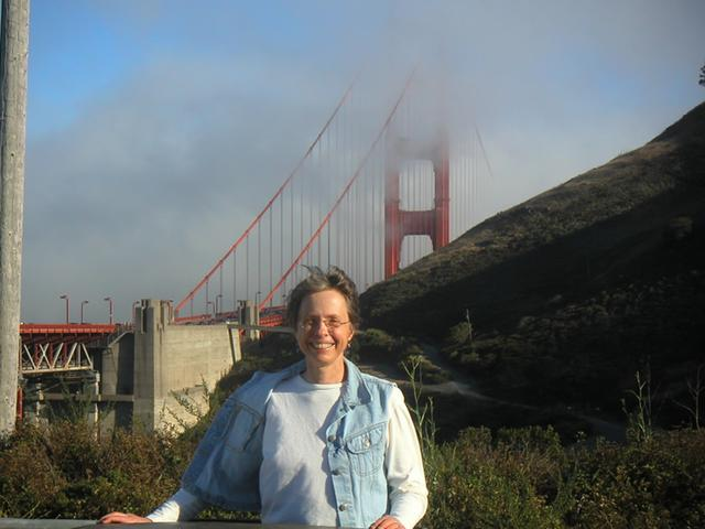 Sally near the Golden Gate Bridge