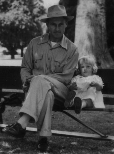 Dad and Me in the park - Age 1